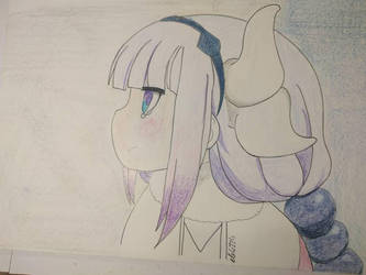 Kanna from Kobajashi-san maid dragon by eb4224