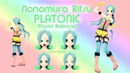 Nonomura Ritsu PLATONIC MMD Model Release! (v 1.1) by Cherii-pipa