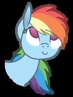 (Wolf-Spirit99) Cute Rainbow Dash by Pikamander2