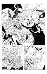 Usha Comic Page 4 Inks by RobertDanielRyan