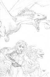 Daenerys Targaryen Pin Up Pencils by RobertDanielRyan