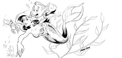 Little Mermaid Inktober Entry by RobertDanielRyan