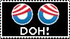 Obama Doh stamp by RedTusker