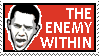 Obama the Enemy Within stamp by RedTusker