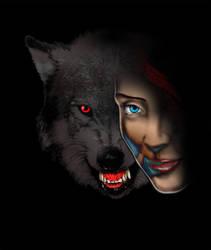 A menina e o lobo by waltertierno