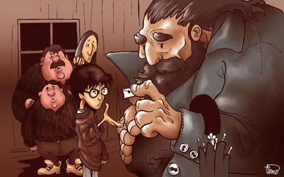 Harry e Hagrid by waltertierno