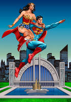 Chris and lynda-Hall of Justice by hamletroman