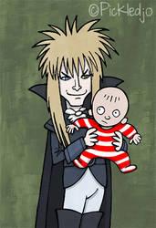 David Bowie Goblin King labyrinth by pickledjo