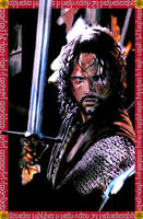 Aragorn in batlle by nielisson