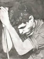 Ian Curtis by ladyclegane