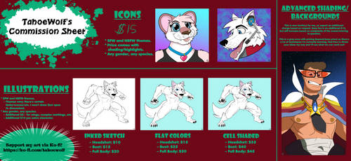 Commission Sheet by TahoeWolf