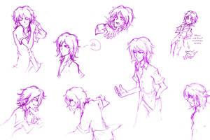 Yoshiya Kiryu_sketches by pikapikashuichi