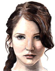 The Girl on Fire by ArtbyCharlotte