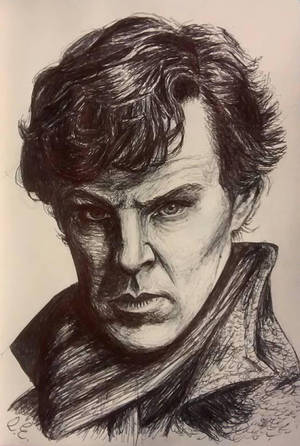 Benedict Cumberbatch as Sherlock by ArtbyCharlotte