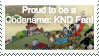 proud to be a codename: knd fan stamp by pinkandorangesunset