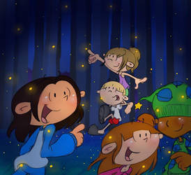 Chasing Fireflies by pinkandorangesunset