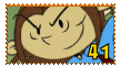 Numbuh 41 fan stamp by pinkandorangesunset