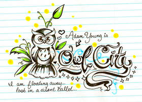 Owl City Doodle by KyogrePrincess16