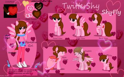 My OC-Shyfly Ref sheet READ DESCRIPTION :) by TwitterShy