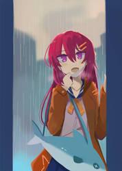 Rainy pop girl by Shionvs