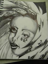 Tribal Portrait_Done by CrystalSiren7
