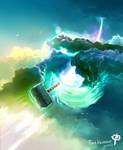 Thors Hammer by moodbringer