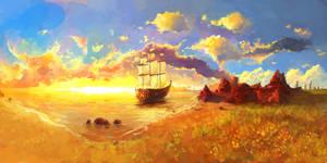 Sun Rise by moodbringer