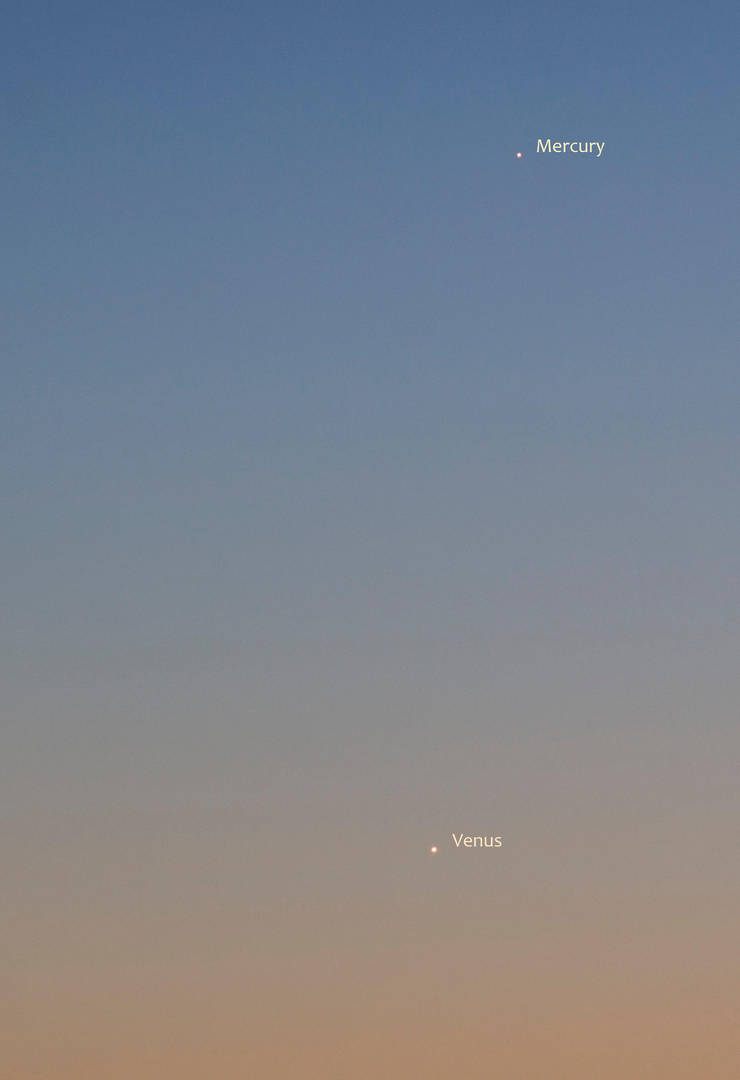 Venus and Mercury by moodbringer