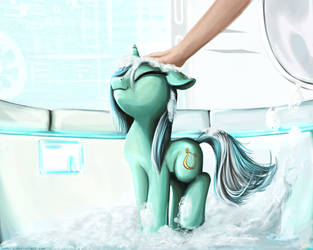 Washing the pony by Nemo2D