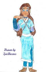 Katara in the season 3 tunic by EpicBacons
