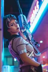 Dans ma ligne de mire - Widowmaker Talon cosplay by Voldiesama