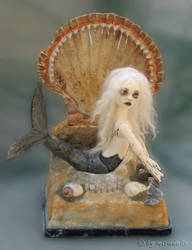 ooak BJD mini mermaid Ascaris by miradolls