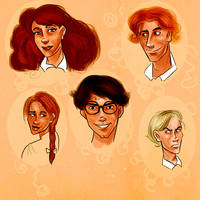 Hogwarts Students by dr-runcible