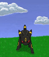 Fierce Umbreon by pokedraw211