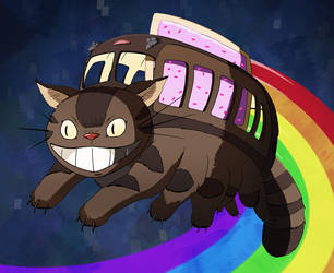 Nyan Catbus by Pandazoic