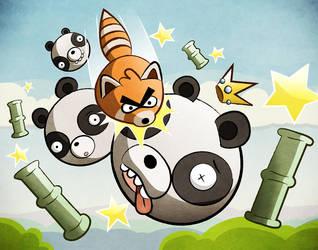 Angry Pandas by Pandazoic