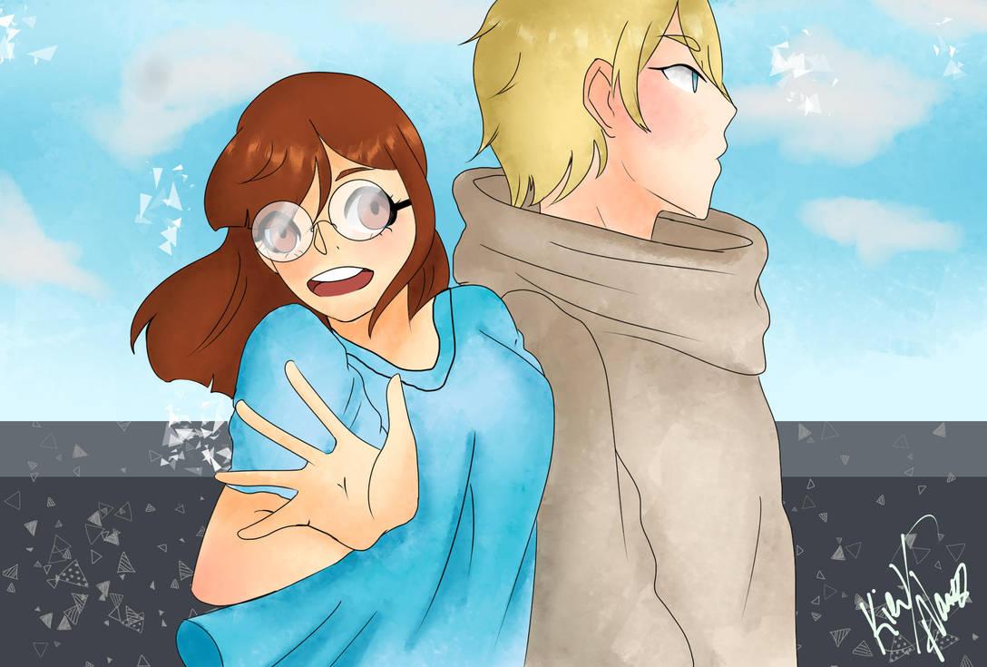 OC - Hiriko and Kou by SenpaiOrKouhai