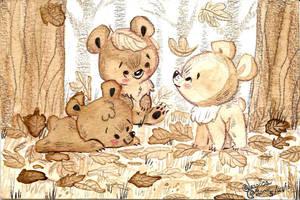 Cafe Bears by JessieDrawz