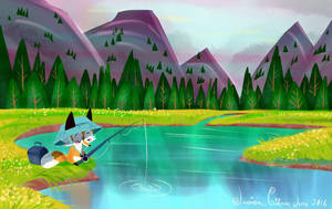 Perfect fishing spot by JessieDrawz