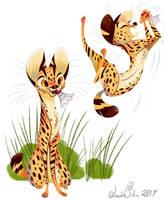 Playful Cats by JessieDrawz