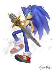 Sonic the knight by BloomTH