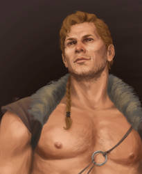 Avvar!Cullen, looking down at you in all his glory by cute-ellyna