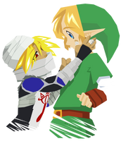 Link and Sheik by neokeia