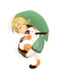 When Link Holds Cats... by neokeia