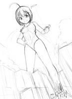 (Sketch) Huge Tamami by Iodain
