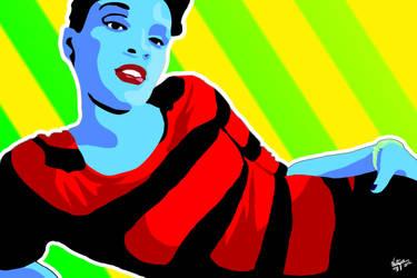 Amanda Pop Art: Version 2 by Vestque