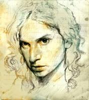Self Portrait Sketch by SILENTJUSTICE