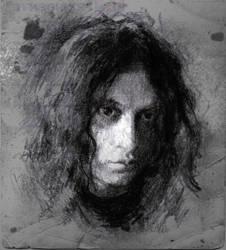 Selfportrait dark sketch by SILENTJUSTICE