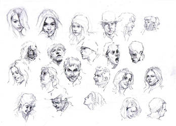 Faces sketch study 2 by SILENTJUSTICE