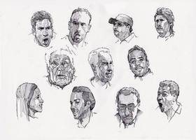 Faces sketch study 9 by SILENTJUSTICE